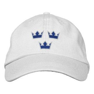 las coronas del tre de Suecia apenaron la gorra de Gorra Bordada