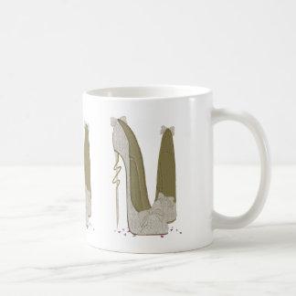 Las cosas bonitas que casan el estilete calzan taza de café