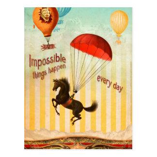 Las cosas imposibles suceden cada día postal