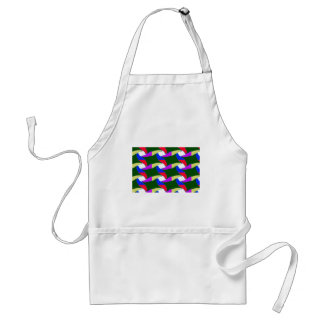 Las cuerdas coloridas de lujo del arte de papel delantal