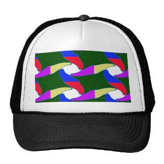 Las cuerdas coloridas de lujo del arte de papel gorras de camionero