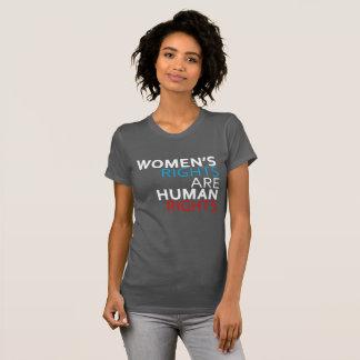 Las derechas de las mujeres son la camiseta de las