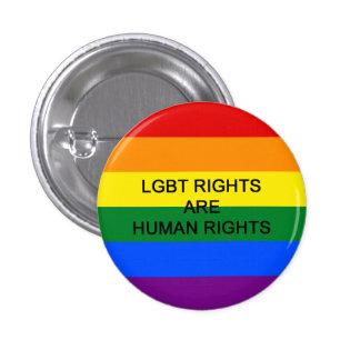 Las derechas de LGBT son insignia de los derechos Chapa Redonda De 2,5 Cm