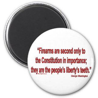 Las derechas del arma - Geo. Washington Imán Para Frigorífico