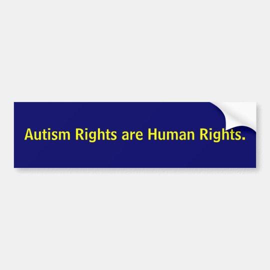 Las derechas del autismo son derechos humanos pegatina para coche