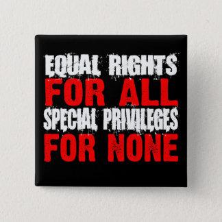 Las derechas iguales para todo el botón