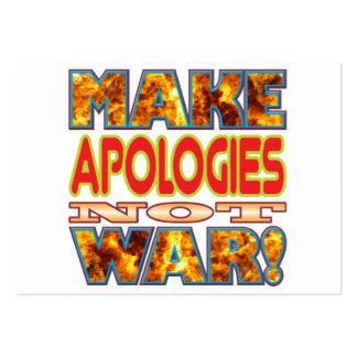Las disculpas hacen X Tarjetas De Visita Grandes