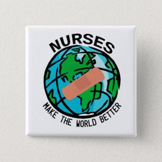 Las enfermeras hacen el mundo un mejor botón del