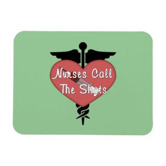 Las enfermeras llaman los tiros imanes rectangulares