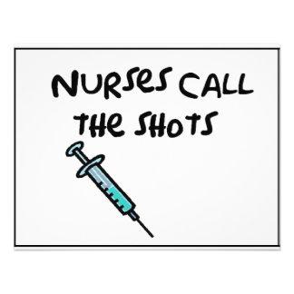 Las enfermeras llaman los tiros comunicado personalizado