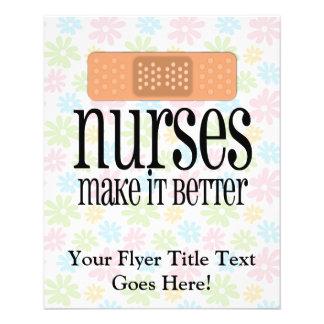 Las enfermeras lo hacen mejor, vendaje tarjeta publicitaria