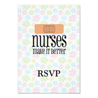 Las enfermeras lo hacen mejor, vendaje invitación 8,9 x 12,7 cm
