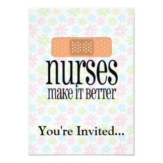 Las enfermeras lo hacen mejor, vendaje invitación 12,7 x 17,8 cm