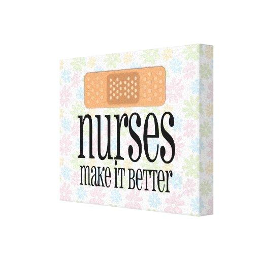 Las enfermeras lo hacen mejor, vendaje lona envuelta para galerias