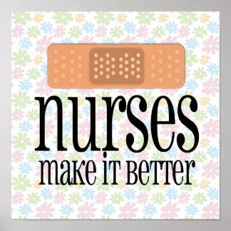 Las enfermeras lo hacen mejor, vendaje póster