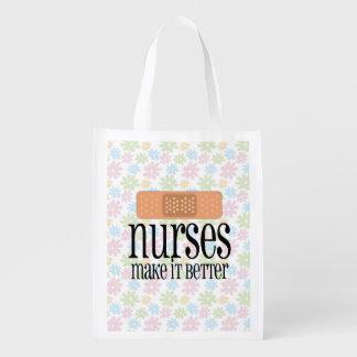 Las enfermeras lo hacen un vendaje mejor, lindo de bolsas reutilizables
