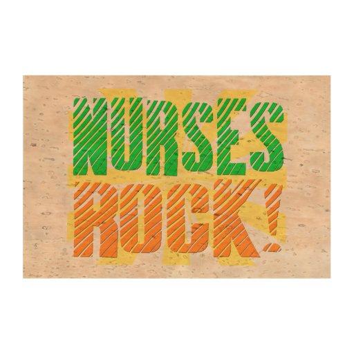 Las enfermeras oscilan, enfermera anaranjada/verde papel de corcho para fotos