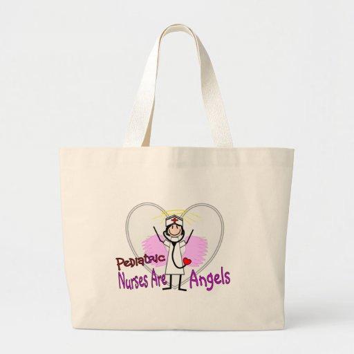 Las enfermeras pediátricas son ángeles bolsas de mano