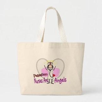 Las enfermeras pediátricas son ángeles bolsa tela grande
