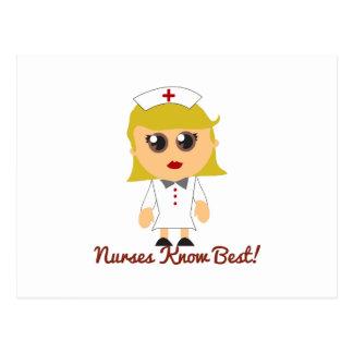 Las enfermeras saben mejor postal