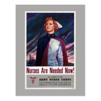 Las enfermeras son ahora necesario - poster del postal