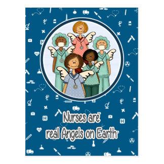 Las enfermeras son ángeles reales en las postales