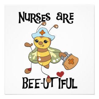 Las enfermeras son camisetas y regalos de la Abeja Invitaciones Personalizada