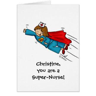 Las enfermeras son héroes - día feliz de las enfer tarjeta de felicitación