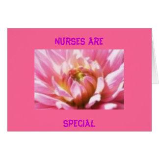 Las enfermeras son tarjeta especial