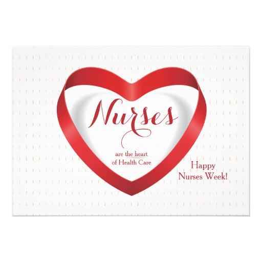 Las enfermeras son… tarjeta feliz del día de las e invitacion personal