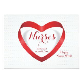 Las enfermeras son… tarjeta feliz del día de las invitación 12,7 x 17,8 cm