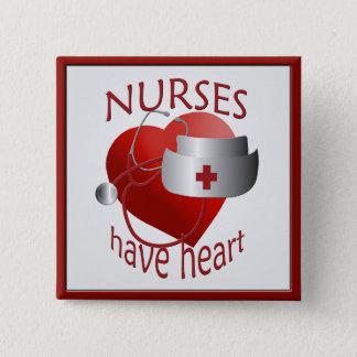 Las enfermeras tienen botón del cuadrado de la