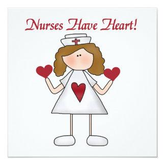 Las enfermeras tienen camisetas y regalos del invitación 13,3 cm x 13,3cm