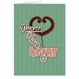Las enfermeras tienen corazón tarjeton