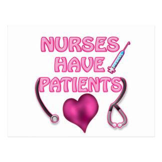 ¡Las enfermeras tienen pacientes! Postales