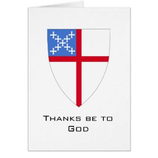 Las Episcopal-Gracias estén a dios Tarjetas