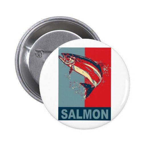 Las especies Iconized de los pescados tienen gusto Pins