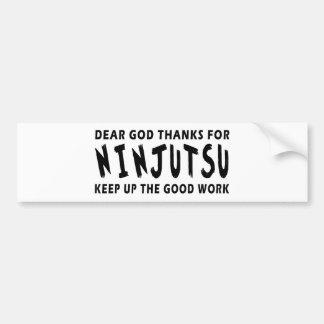 Las estimadas gracias de dios por Ninjutsu continú Pegatina Para Coche