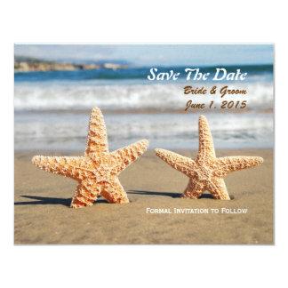 Las estrellas de mar juntan en la reserva de la invitación 10,8 x 13,9 cm