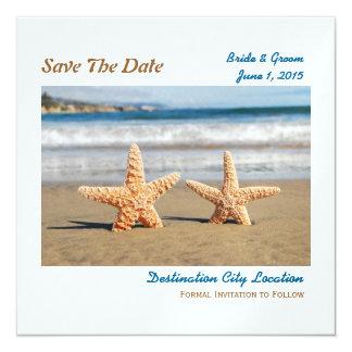 Las estrellas de mar juntan en la reserva de la invitación 13,3 cm x 13,3cm