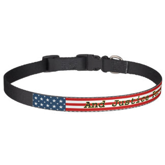 Las estrellas N [del americano patriótico] rayan Collar Para Mascotas