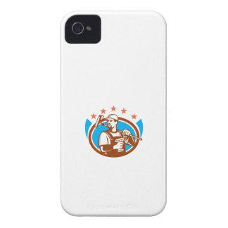 Las estrellas ovales de Paintroller del taladro Carcasa Para iPhone 4 De Case-Mate