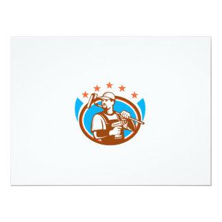 Las estrellas ovales de Paintroller del taladro Invitación 16,5 X 22,2 Cm