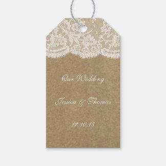 Las etiquetas de la colección del boda de Kraft y Etiquetas Para Regalos