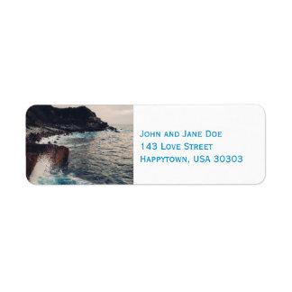 Las etiquetas del remite del borde del mar etiquetas de remite