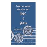 Las etiquetas modernas azules del regalo del favor tarjeta de visita