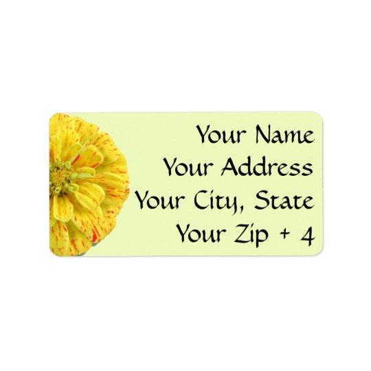 Las etiquetas/regalo marcan - Zinnia de la raya Etiquetas De Dirección