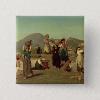 Las excavaciones en Pompeya, 1865 Chapa Cuadrada