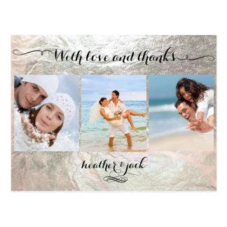 Las falsas fotos de la plata/del boda de postal