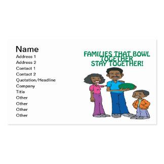 Las familias esas ruedan juntas tarjetas de visita